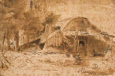Cottage Near the Edge of a Wood Rembrandt