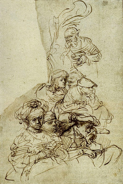 Groups of Listeners Rembrandt