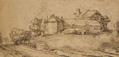 Landscape with a Farmhouse and a Hay Barn Rembrandt