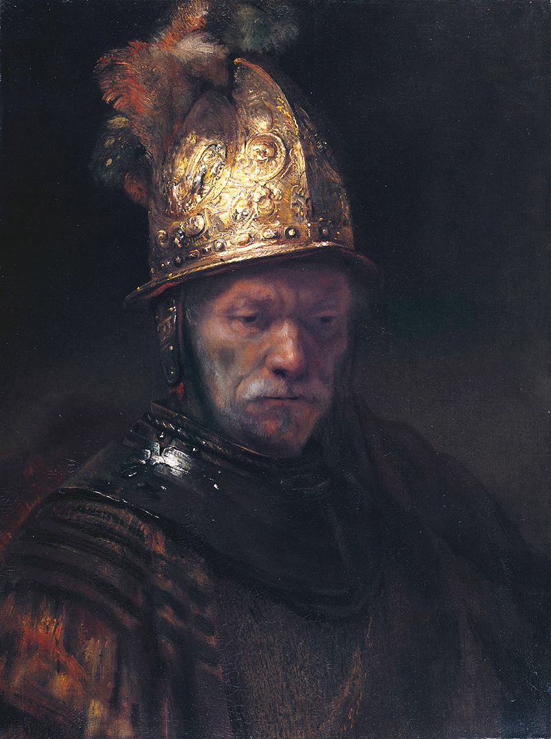 Man with Helmet in Detail Rembrandt