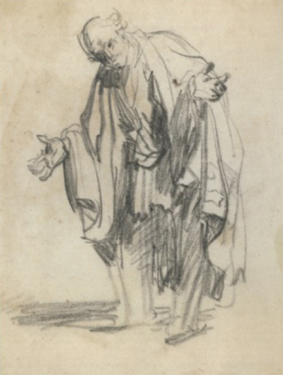 Old Man with Outspread Arms Rembrandt