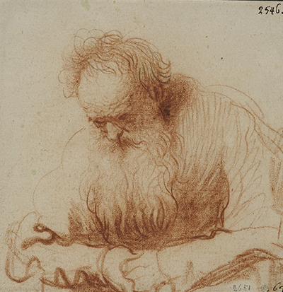 Seated Old Man II Rembrandt