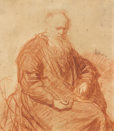 Seated Old Man Rembrandt