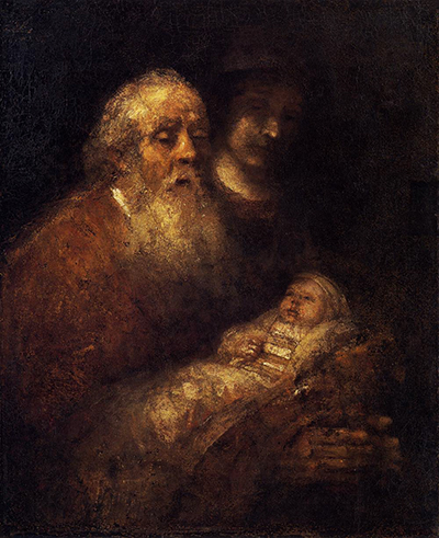 Simeon's Song of Praise by Rembrandt