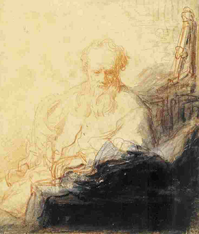 St Paul in Meditation Rembrandt