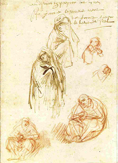 Studies of Grieving Marys Rembrandt