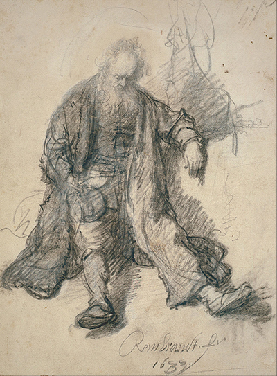 Study for Drunk Lot Rembrandt