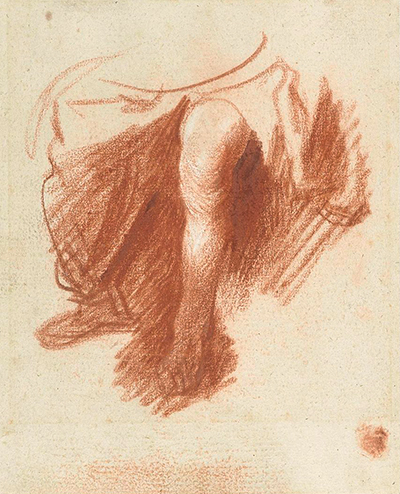 Study of the legs of a seated woman Rembrandt