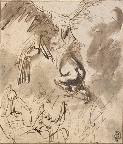 The Abduction of Ganymede Drawing Rembrandt