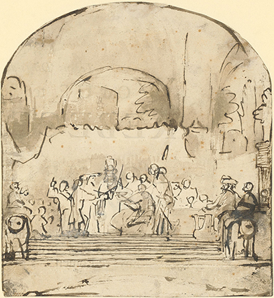 The Conspiracy of Claudius Civilis Drawing Rembrandt