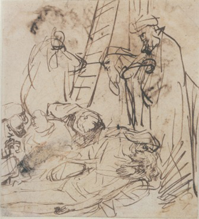 The Lamentation over the Dead Christ Rembrandt