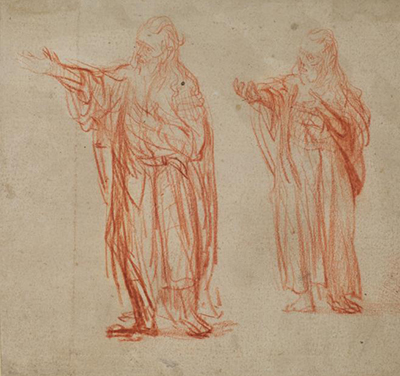 Two Studies of John the Baptist Rembrandt