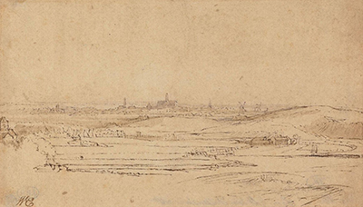 View of Haarlem with the Saxenburg Estate in the Foreground Rembrandt